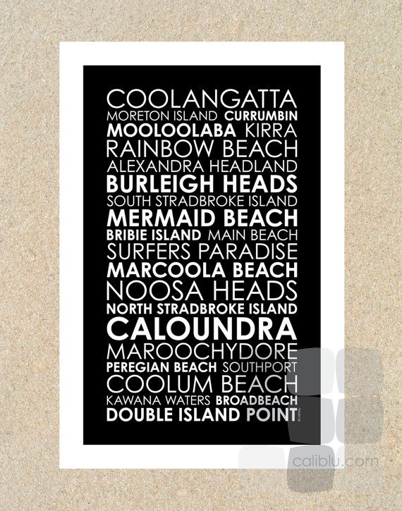 South Queensland Beaches  Poster 12x18  Modern by caliblupaper, $30.00 #Australia