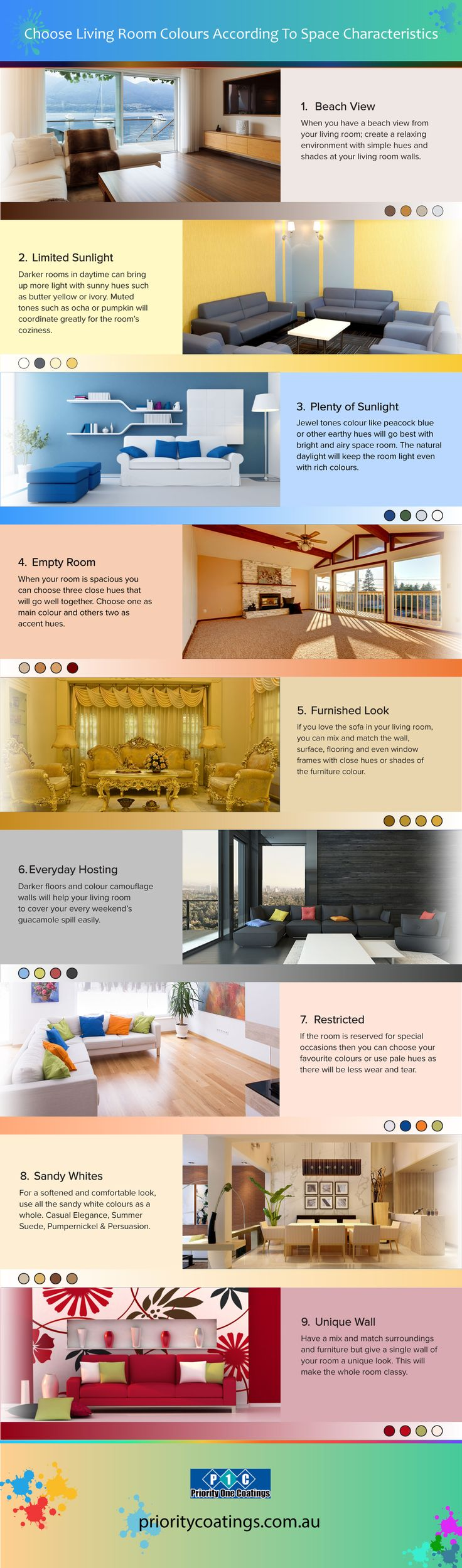 Get The Perfect Living Room Paint Colors According To The Surroundings