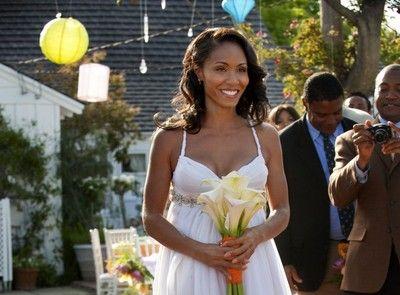 Jada Pinkett Smith Same Designe White One Shoulder Mermaid ... |Will Smith Jada Pinkett Wedding Dress
