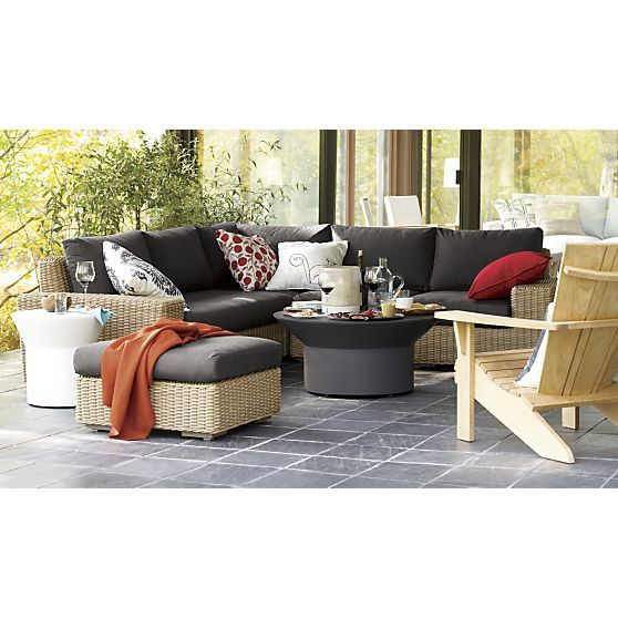 newport lounge collection i crate and barrel outdoor
