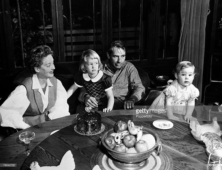 Is Pictured With Her Fourth Husband Actor Gary Merrill And