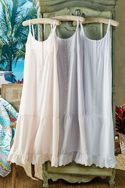 Savannah Nightgown - Cotton Nightgown, Embroidered Nightgown | Soft Surroundings