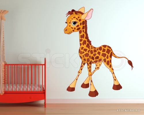 Girafa Calf - sticker imprimat