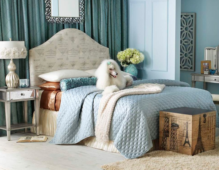 Jade lying on a Pier 1 Frenchy Upholstered Bed with accents from the  Hayworth Collection. 205 best Pier 1 Imports images on Pinterest