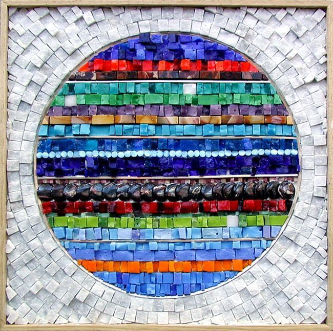 Student Work � Institute of Mosaic Art I love the contrast white-colour / round-straight line