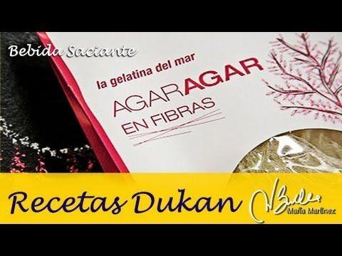 Bebida saciante de Agar Agar (Ataque)   Recetas Dukan Maria Martinez