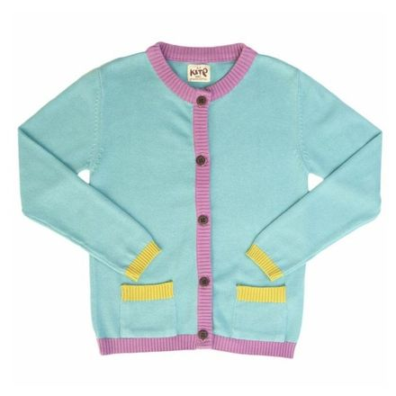 KK Tri-Colour Cardigan Marine Blue