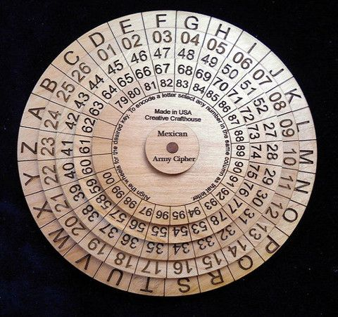Mexican Army Cipher Wheel - Escape Room Game A great item for Escape rooms, especially when paired with one of our secret message puzzles and/ puzzle boxes.  You can lock the cipher key away in the puzzle box or hide it in a secret message.