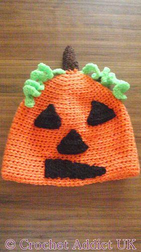 Ravelry: Halloween Pumpkin Beanie Hat 1 yr+ pattern by Crochet AddictUK