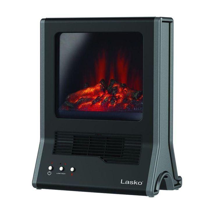 Lasko Ultra Ceramic Fireplace Heater Ca20100 Black Portable Fireplace Fireplace Heater Portable Heater