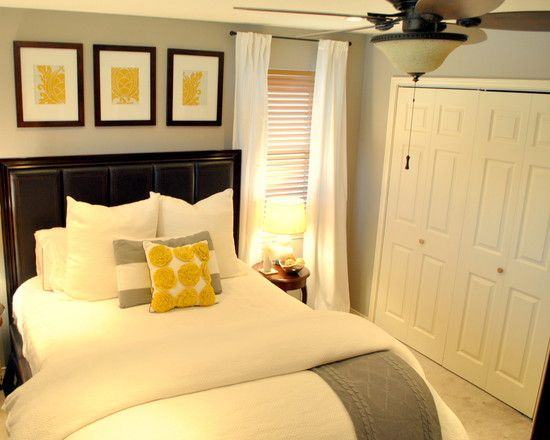 Bedroom, Stunning Furniture Ideas For Small Bedrooms Retractable Blade Ceiling Fan Elegant Table Lamp Light Gray Wall Paint White Pillows An...