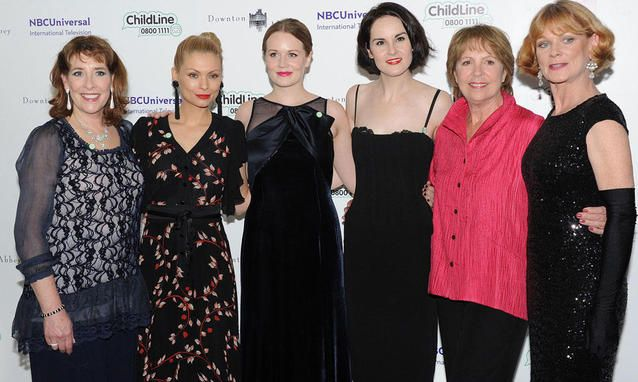 Downton Abbey: Phyllis Logan, MyAnna Buring, Cara Theobald, Michelle Dockery, Penelope Wilton, Samantha Bond