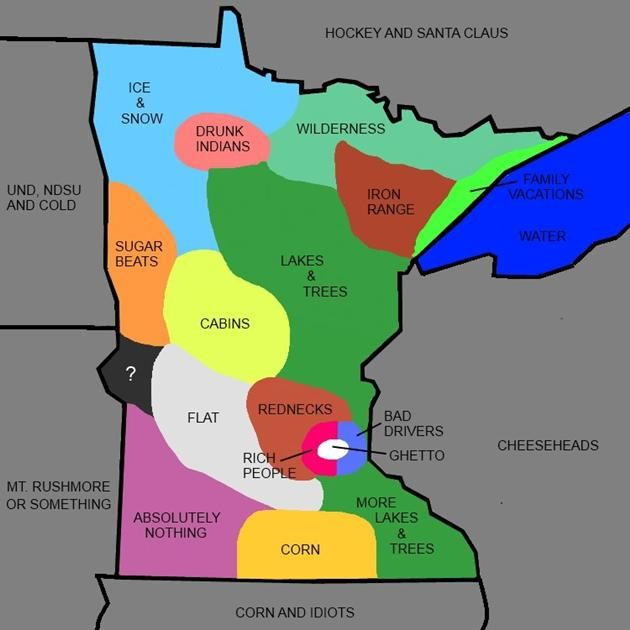 Vh Funny Minnesota State Map What Minnesota is really like