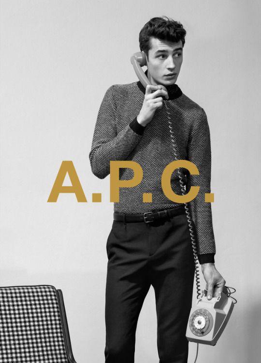 Adrien Sahores Fronts A.P.C. Pre Fall 2015 Campaign