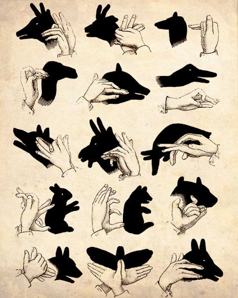 shadow puppet guide - love this!
