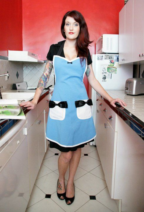 Alice in Wonderland costume pin up apron by HauteMessThreads, $30.00