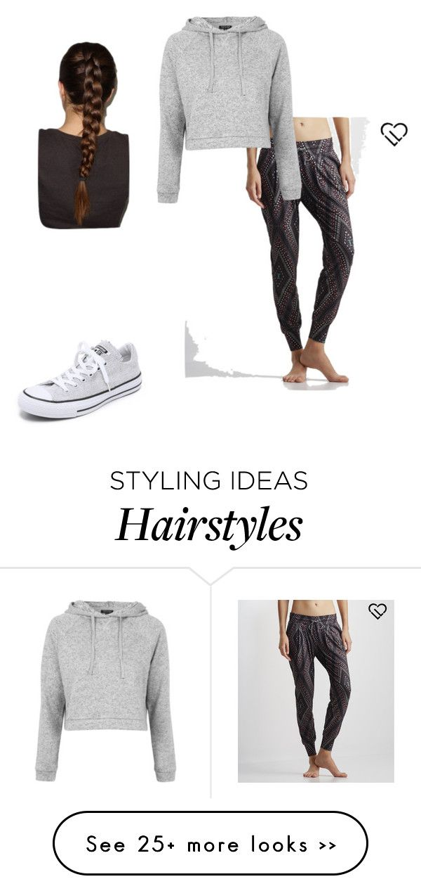 """Lazy day"" by eleanoramalouf on Polyvore featuring Aéropostale, Topshop and Converse"