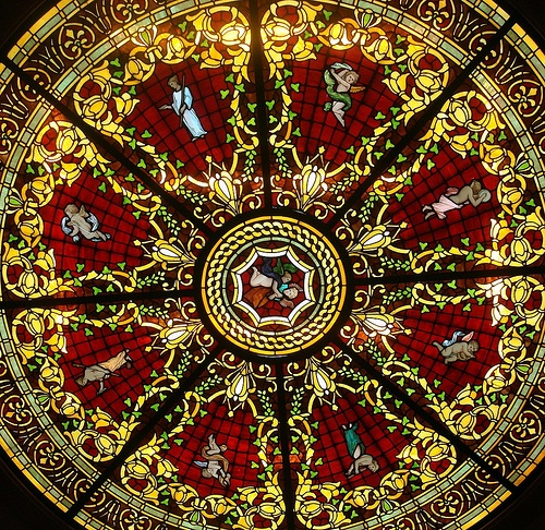 Stained Glass Ceiling Window by Svadilfari, via Flickr