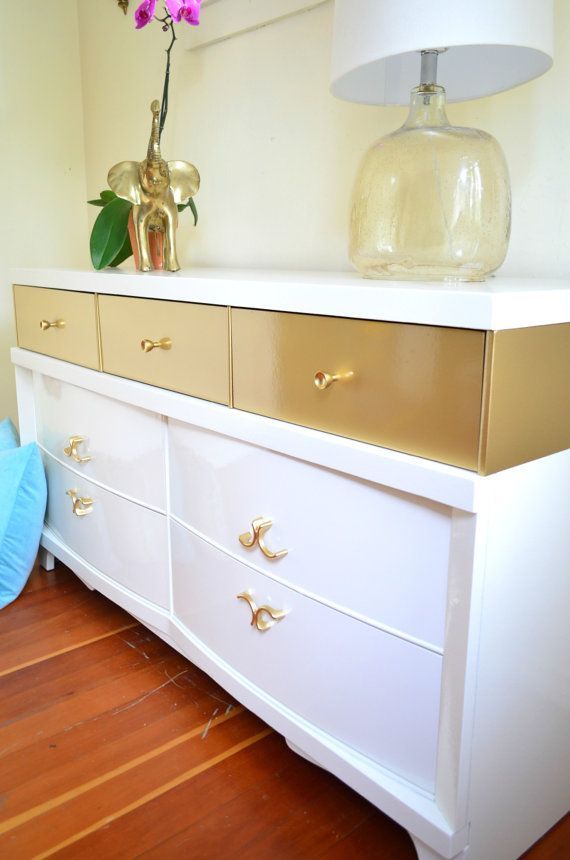315 best metallic painted furniture images on pinterest for Painted mid century modern furniture