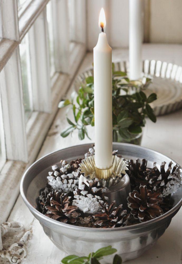 aus alten backformen und anderen k chenutensilien lassen sich ganz einfach sch ne kerzenhalter. Black Bedroom Furniture Sets. Home Design Ideas