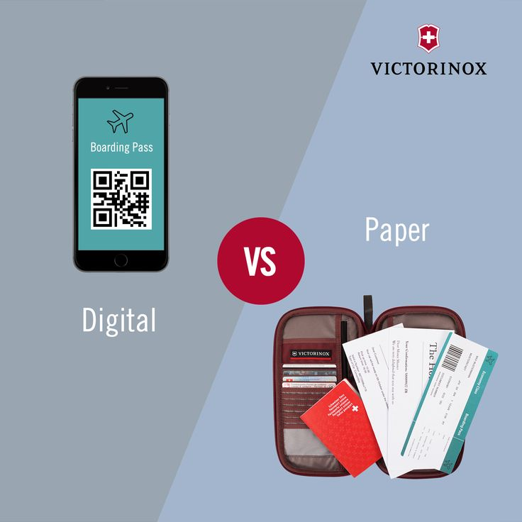 Digital vs. Paper: Do you print out all your travel documents or do you download on your smartphone? #WhatTypeAreYou #Victorinox #TravelGear