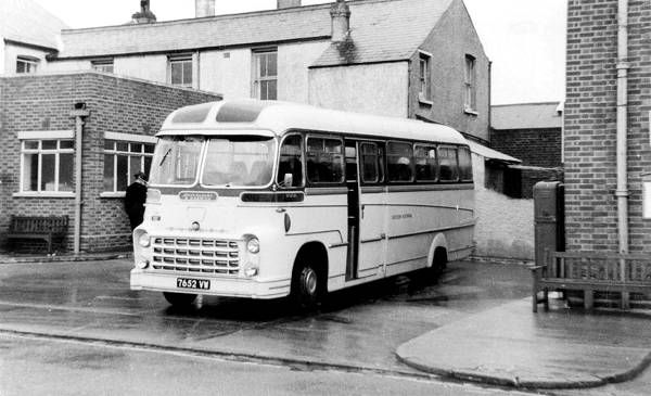 Eastern National 102, 7652VW, a Commer Avenger IV with Yeates C41F body, new to Moores in 1960, part of the fleet taken over by ENOC in earl...