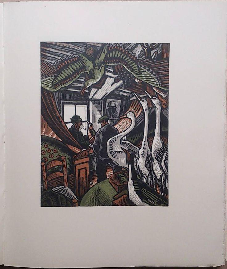Livre de Maurice Genevoix, Raboliot, orné de bois originaux en plusieurs tons, gravés par Louis-Joseph Soulas. VENDU . www.auvieuxchaudron.fr