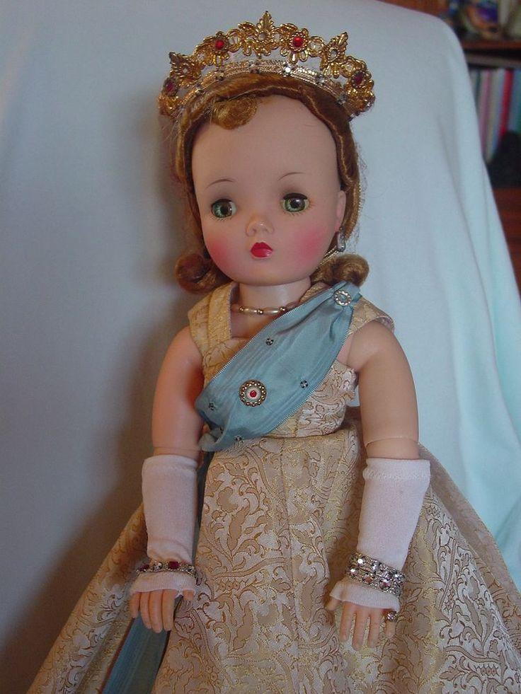 MADAME ALEXANDER VINTAGE HARD PLASTIC QUEEN ELIZABETH CISSY DOLL LOTS OF JEWELR   eBay