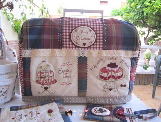 dulces pilukas: Funda maquina de coser Paris Patisserie