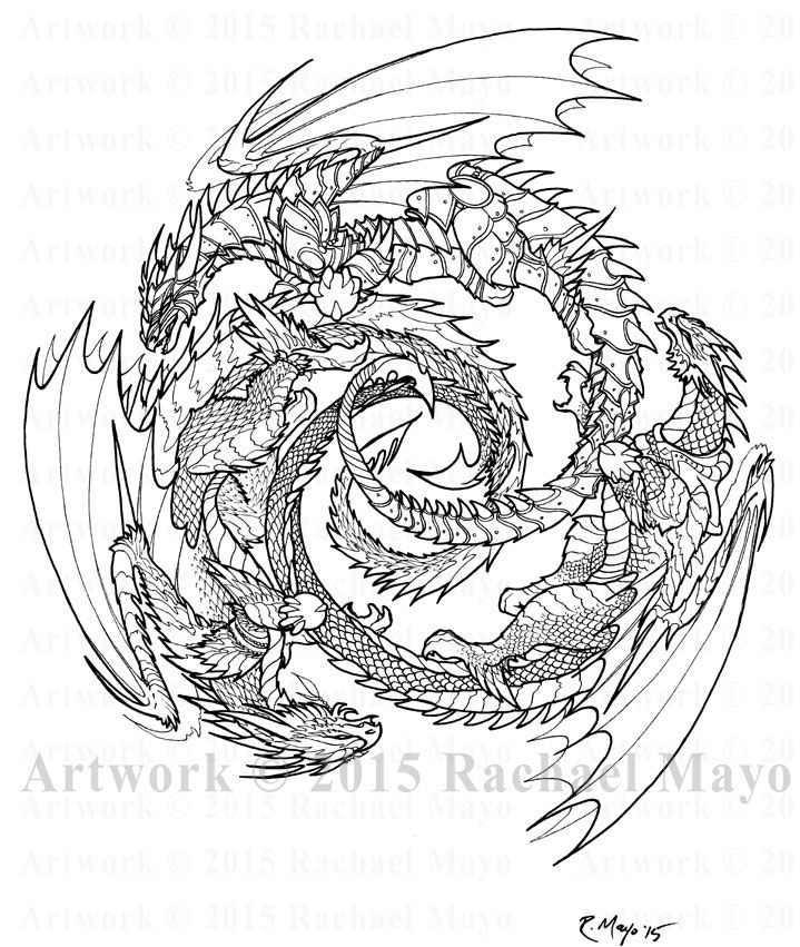 558 best dragons to color images on pinterest for Fantasy dragon coloring pages