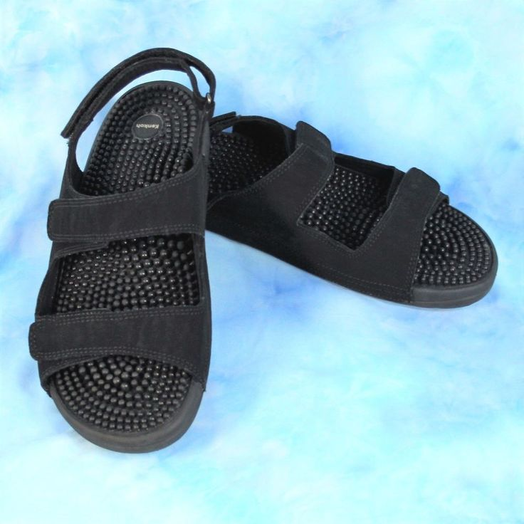 KENKOH Trek Size 9 EU 40 Black Massage Sport Health Sandals Reflexology Shoes  #Kenkoh #SportSandals #Casual