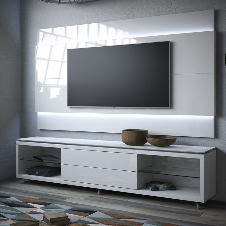 Manhattan Comfort Lincoln TV Stand w  Casters   Lincoln Floating Wall TV  Panel w  LED in White Gloss. The 25  best Tv panel ideas on Pinterest   Tv display unit  Living