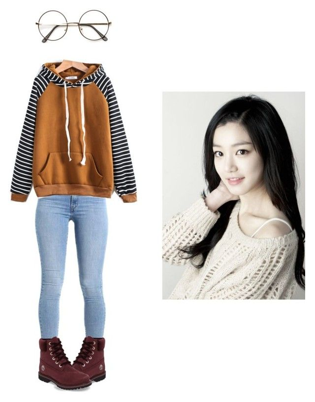 """""""Shina's casual wear"""" by pantsulord on Polyvore featuring Timberland"""