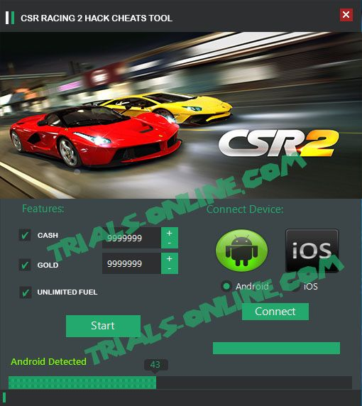 CSR racing 2 Hack Tool Android iOS Download