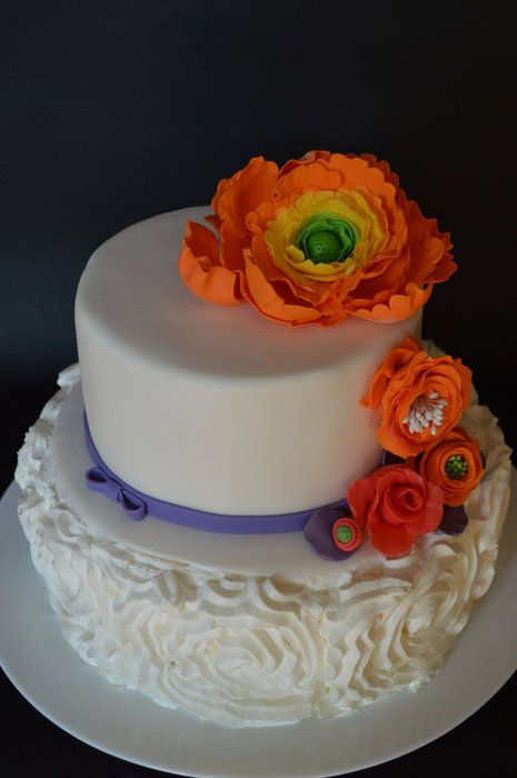 Birthday Flowers - by Pavlina @ CakesDecor.com - cake decorating website