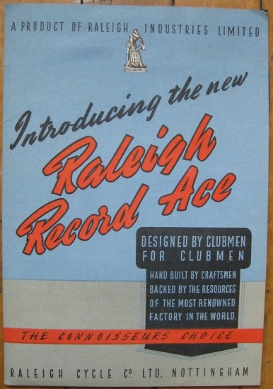 Raleigh Record Ace Post War brochure