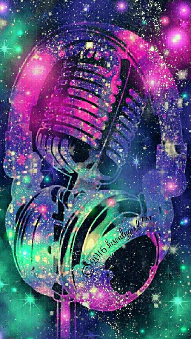 Sound booth galaxy iPhone/Android wallpaper I created for the app CocoPPa!
