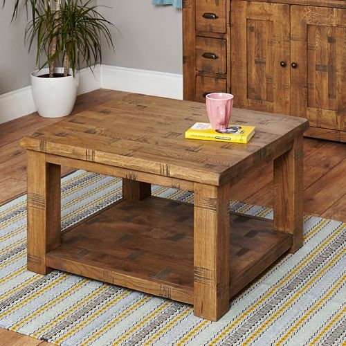 Rough Sawn Oak Open Coffee Table #wood #oak #furniture #coffee #table #coffetable #home #interior #decor #livingroom #lounge