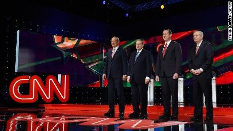 A more lively Jeb Bush jabbed Donald Trump and the increasingly public rivalry between Marco Rubio and Ted Cruz spilled into the open Tuesday night during the final Republican presidential debate of the year.