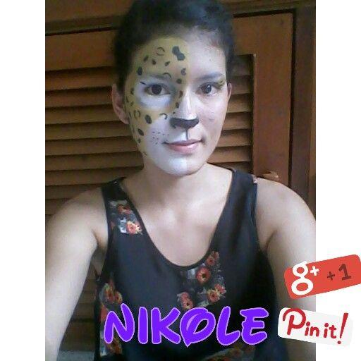 Maquillaje animal- Animal print- Leopardo. Modelo: Nikole Ramirez Hecho por: Nikole Ramirez