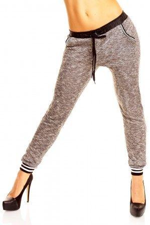 Dámské úpletové kalhoty Best Emilie - šedé aff#
