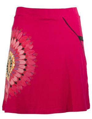 Leins Bazar Roze rokje grote mandala desigual look skirt pink fuchsia cotton stretch