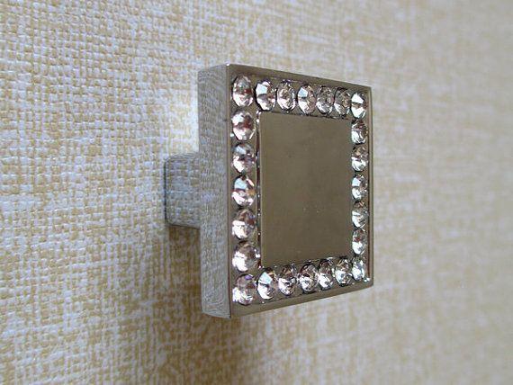 Glass Dresser Knobs Crystal Cabinet Knobs Pulls Square