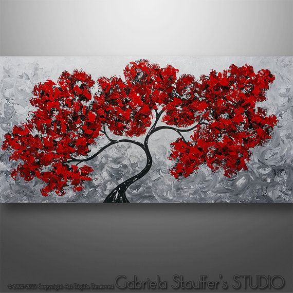 Abstract Painting Original Painting Wall Art Landscape by Catalin