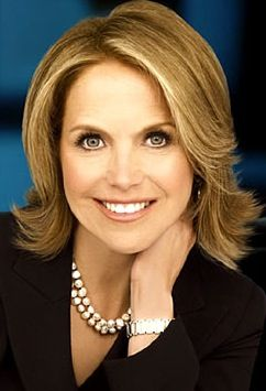 Katie Couric.  Met her on commercial break on the TODAY show.  It was right before she left.  She is tiny, prettier in person and has great legs!