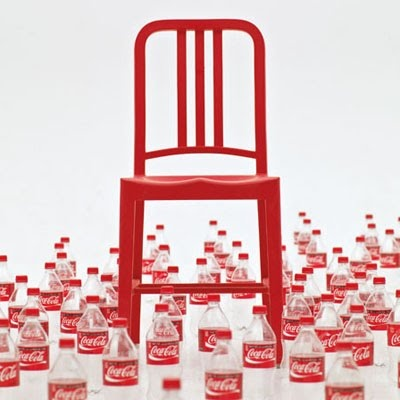 the red Navy chair made with recycled Coke bottles, 2010, Emeco, USA