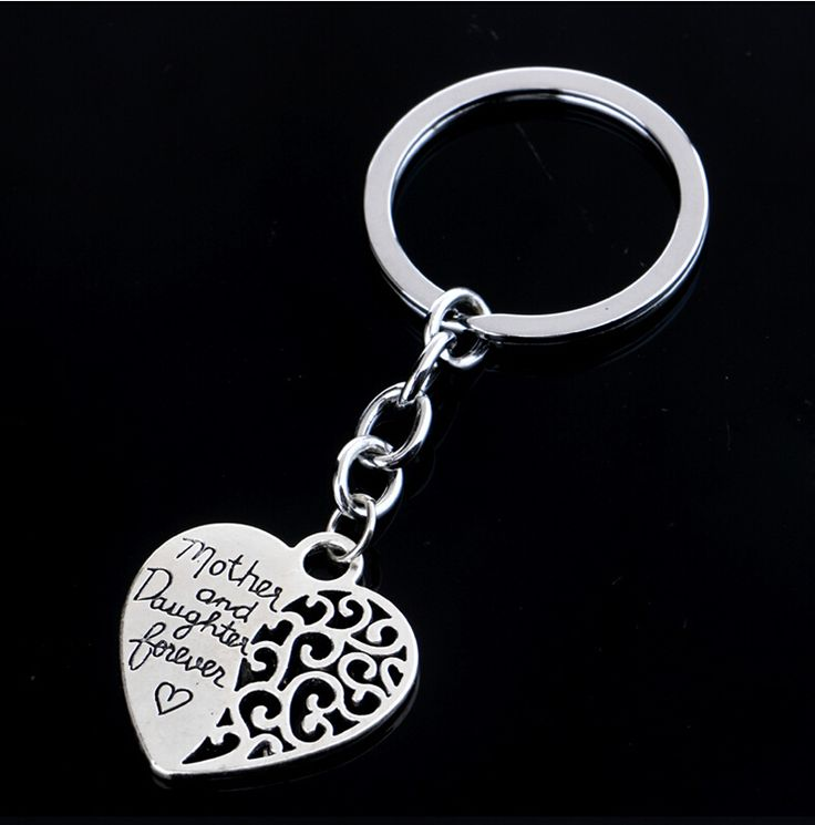 Key Ring Chain letters Mother Daughter chain New Silver Plated Heart-shaped Ring Friendship Between Lover Friendship #Affiliate