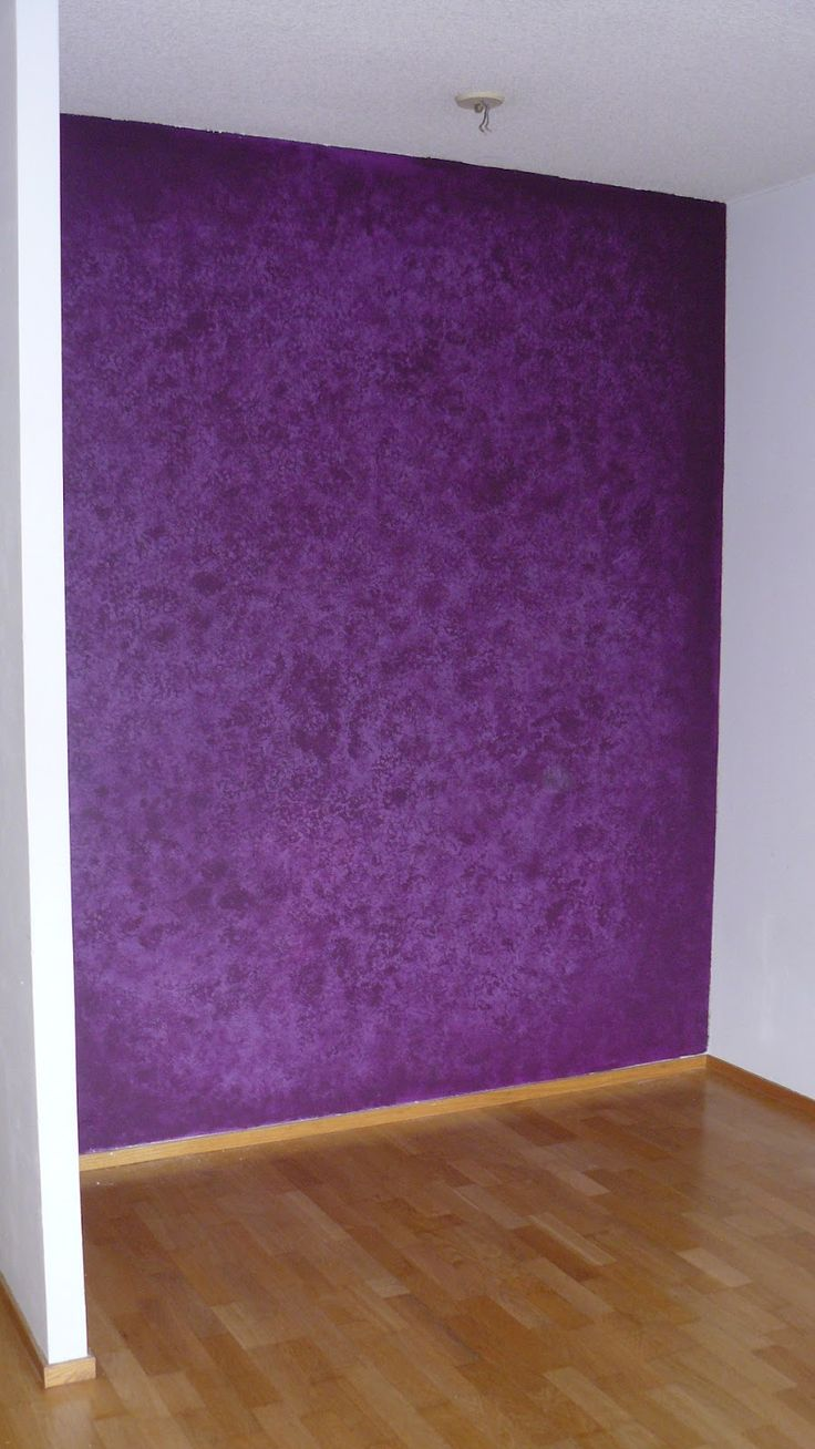 Dark purple wall paint - Purple Sponged Wall