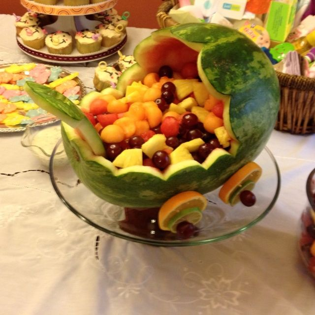 Fruit Trays For Baby Shower Such A Cute Idea For A Baby Shower