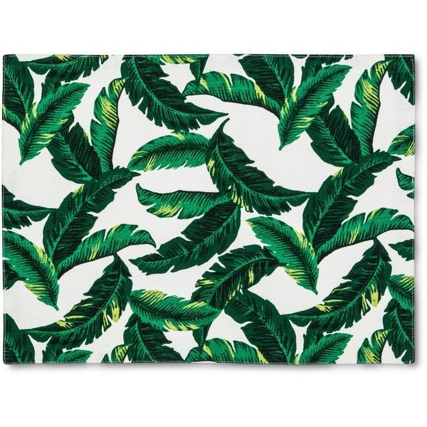 Cream Leaf Placemat ($4.99) ❤ liked on Polyvore featuring home, kitchen & dining, table linens, leaf placemats, colored placemats, beige placemats, cream placemats and tropical table linens